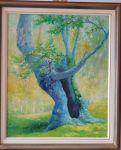 "Картина  ""Старо дърво"" на Евтим Постолов"