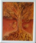 """Картина  """"Дървото"""" на Методи Петков Мохата"""