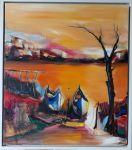 """Картина  """"Тихо пристъпва нощта"""" на Любима Бърдарова"""